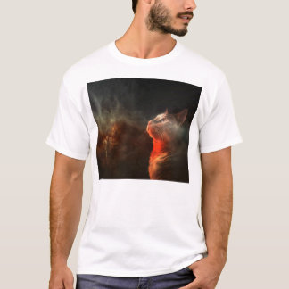 cat staring into the abyss of space T-Shirt
