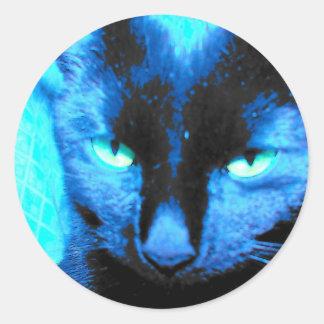 Cat Sticker: we are not amused Round Sticker