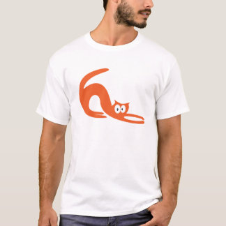 Cat Stretch Orange Hello Eyes T-Shirt