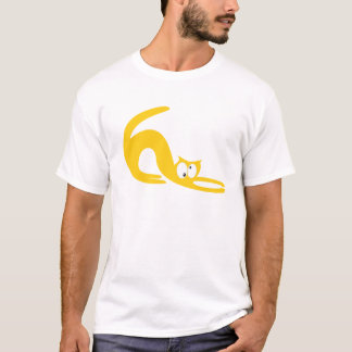 Cat Stretch Yellow Topsy Turvey Eyes T-Shirt