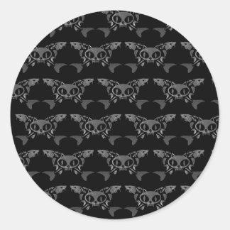 Cat & Sturg Bones - Gray Classic Round Sticker