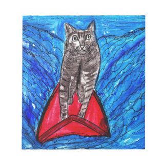 Cat Surfing Notepad