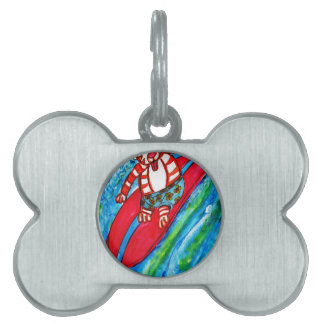 Cat Surfing Pet Tag