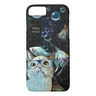 Cat Sushi Cute Funny Humor Fish Bubble iPhone Case