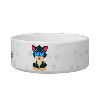 Cat swirls bowl