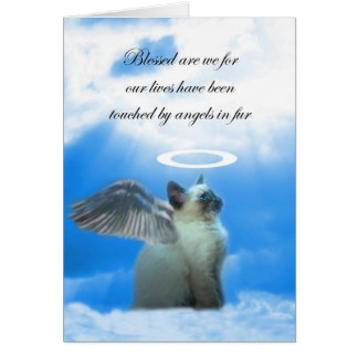 Cat Sympathy Card, Angel Kitty, Loss of Cat Card