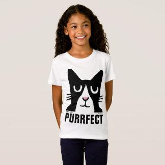 Cat t-shirts for Kids, PURRFECT, Panda Kitty