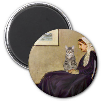CAT (Tabby 1) - Whistlers Mother 2 Inch Round Magnet