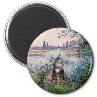Cat (Tabby 2) - By the Seine 2 Inch Round Magnet