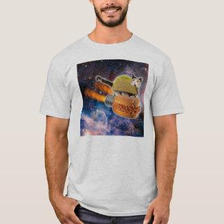 Cat Taco Riding Sandwich Rocket T-Shirt