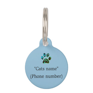 Cat Tag  Blue