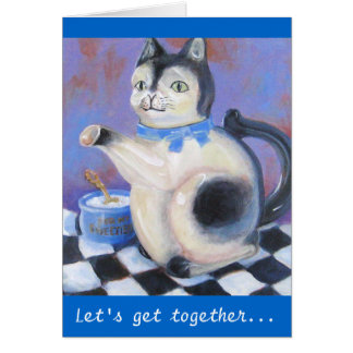 Cat Teapot Card