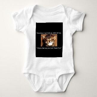 Cat Thank You Baby Bodysuit