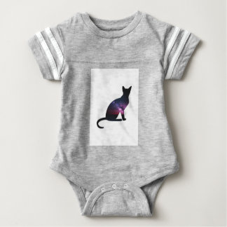 Cat that shows the galaxy and the big universe baby bodysuit