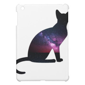 Cat that shows the galaxy and the big universe iPad mini case
