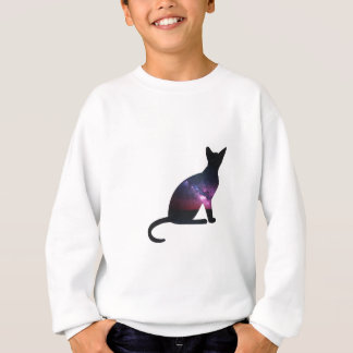 Cat that shows the galaxy and the big universe sweatshirt