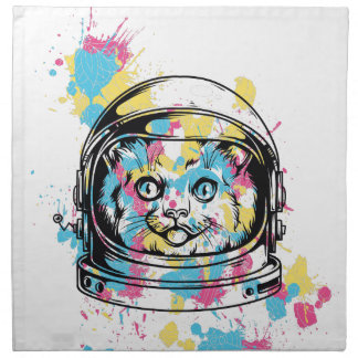 cat the astronuat napkin