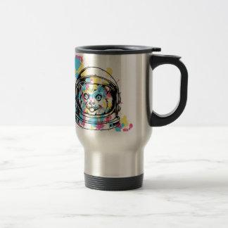 cat the astronuat travel mug