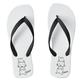 cat thongs/ flip flaps flip flops