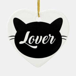 Cat To coil Ceramic Heart Ornament