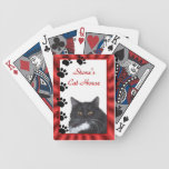 Cat Tracks Playing Cards - personalize