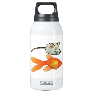 Cat Treats (Mice and Fish) Insulated Water Bottle
