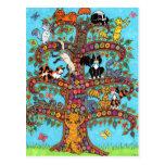Cat Tree of Life 2 Postcard