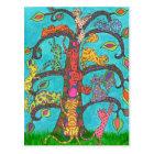 Cat Tree of Life Postcard