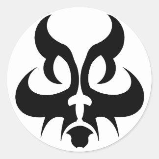 Cat tribal round sticker