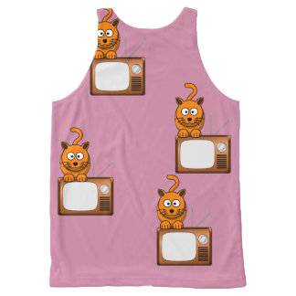 Cat TV All-Over-Print Tank Top