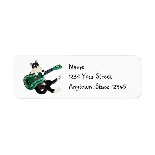 Cat Ukulele Address Labels
