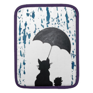Cat Under Umbrella iPad Sleeve