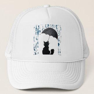 Cat Under Umbrella Trucker Hat