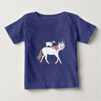 Cat Unicorn Riding Unicorn Cat Baby T-Shirt