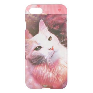 Cat Valentine Humor Funny Love Heart iPhone Case