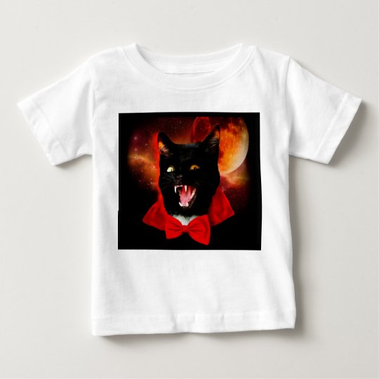 cat vampire - black cat - funny cats baby T-Shirt