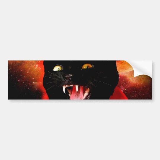 cat vampire - black cat - funny cats bumper sticker