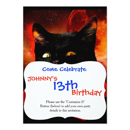 cat vampire - black cat - funny cats card