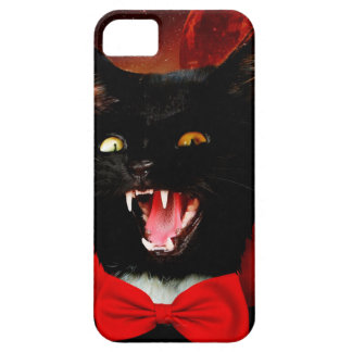 cat vampire - black cat - funny cats case for the iPhone 5
