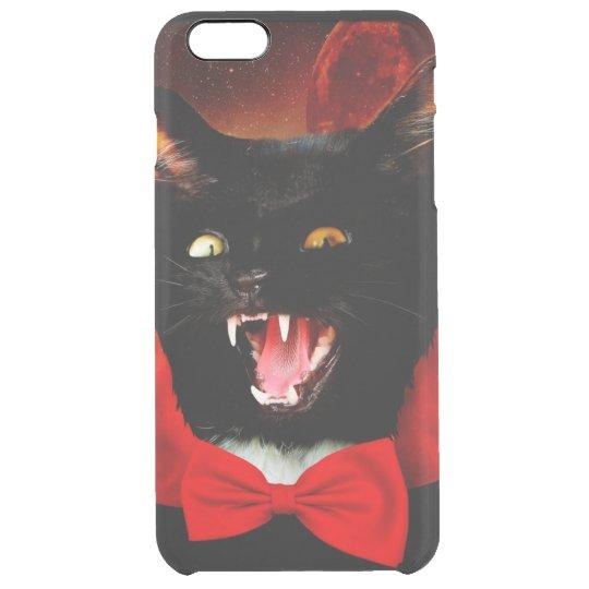 cat vampire - black cat - funny cats clear iPhone 6 plus case