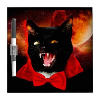cat vampire - black cat - funny cats dry erase board