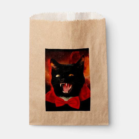 cat vampire - black cat - funny cats favour bag