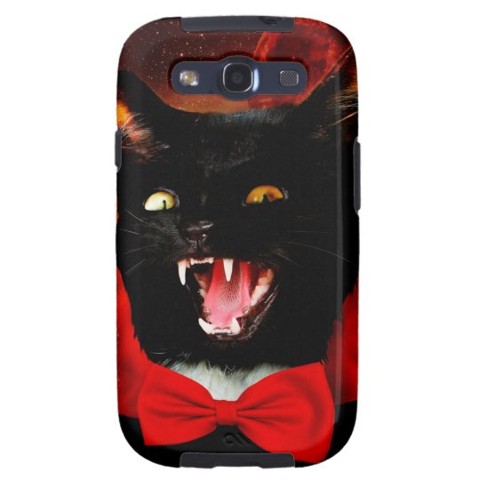 cat vampire - black cat - funny cats galaxy s3 cases