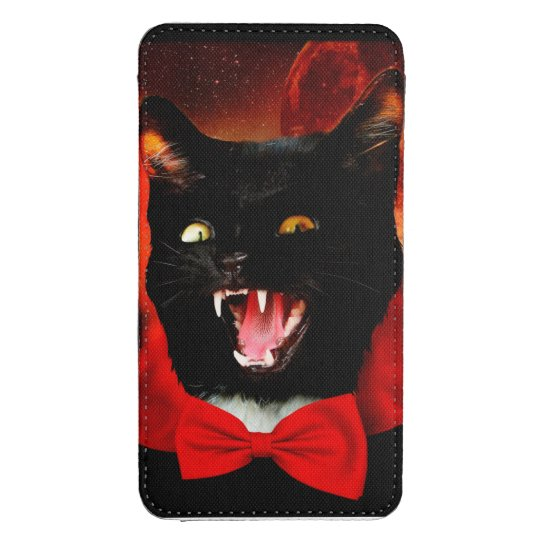 cat vampire - black cat - funny cats galaxy s4 pouch