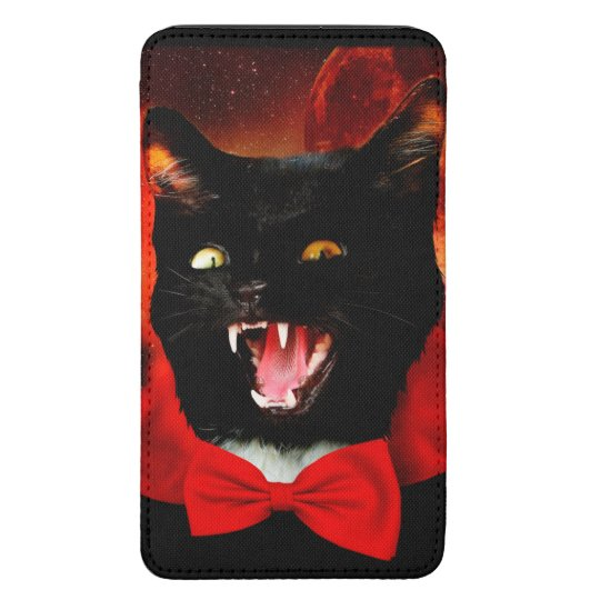 cat vampire - black cat - funny cats galaxy s5 pouch