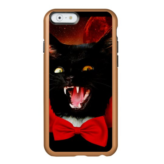 cat vampire - black cat - funny cats incipio feather® shine iPhone 6 case