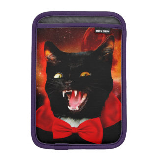 cat vampire - black cat - funny cats iPad mini sleeve