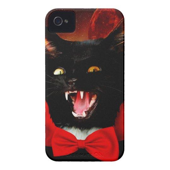 cat vampire - black cat - funny cats iPhone 4 covers