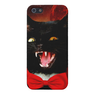 cat vampire - black cat - funny cats iPhone 5 case