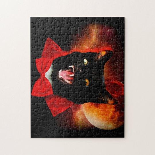 cat vampire - black cat - funny cats jigsaw puzzle